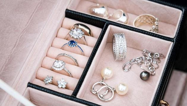Protective cases like a jewellery box with fabric lined compartments are great to keep your jewellery not only organized, but separated.(Shutterstock)