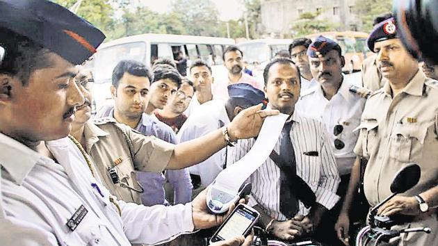 Until now challan details were maintained in physical books.(HT File (Representational Image))