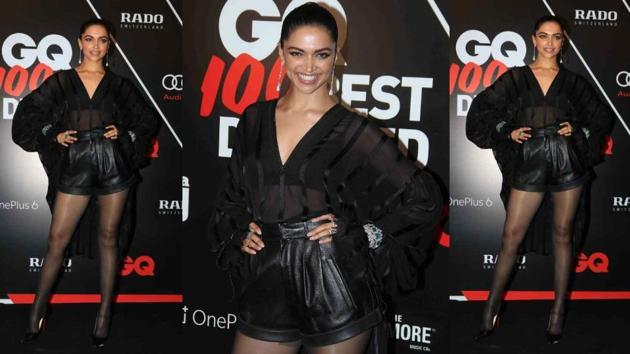 What do you think of Deepika Padukone's black statement outfit? (Instagram)