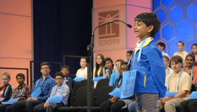 Akash Vukoti first entered the spelling bee contest when he was just 2 years old.(Image: Sourced)