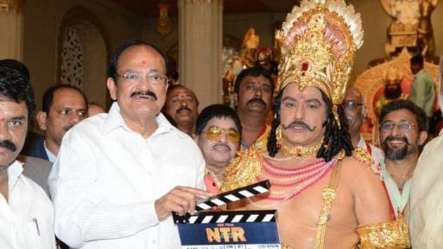 Nandamuri Balakrishna plays his father, the late NT Rama Rao, in the upcoming NTR biopic.