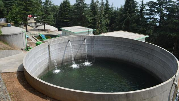 Naddi water supply scheme is one of the major schemes which caters Dharamshala.(HT Photo)