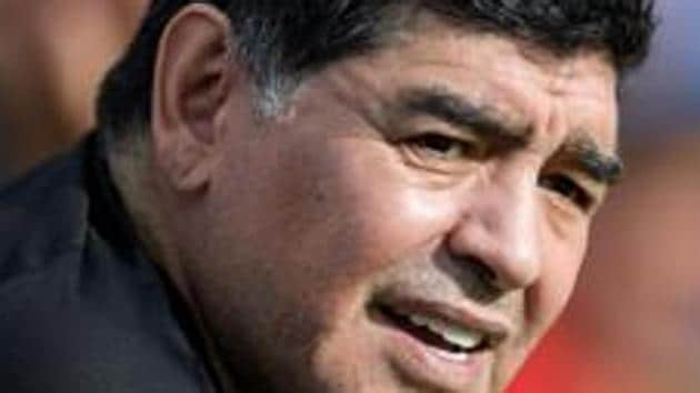 Diego Maradona was sent home from 1994 FIFA World Cup after he tested positive for drugs.(AFP)