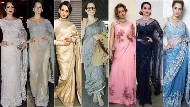 Kangana Ranaut's saree looks would be a perfect way to get your closet summer-ready. (Instagram)