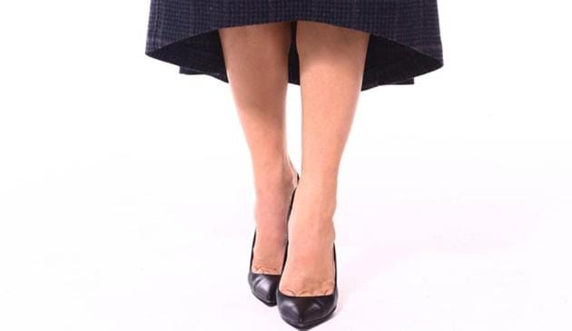 Typically you will see the asymmetrical cut on skirts and fitted dresses in solid colours for both daytime and formal affairs.(Shutterstock)