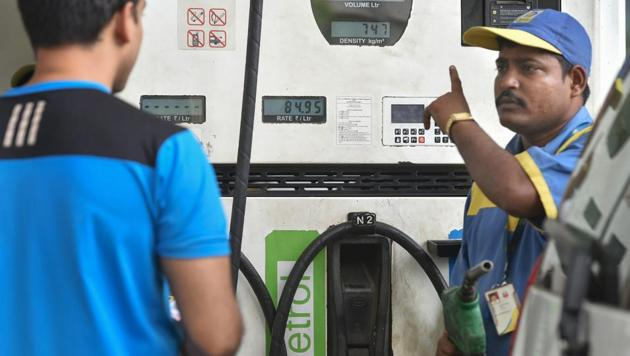 Kerala charges roughly 32.2% tax on petrol and 25.58% on diesel, among the highest in the country.(PTI Photo)