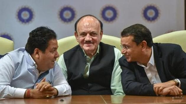 CK Khanna (C), who is the acting president of the BCCI, has been asked to provide a reply regarding conflict of interest due to the fact that his wife has been controversially fielded for the vice-president's post in the Delhi and District Cricket Association (DDCA).(PTI)