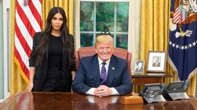 President Donald Trump tweeted a picture with Kim Kardashian.