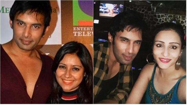 Rahul Raj Singh with Pratyusha Banerjee and with Saloni Sinha in this combination photo.(Instagram)