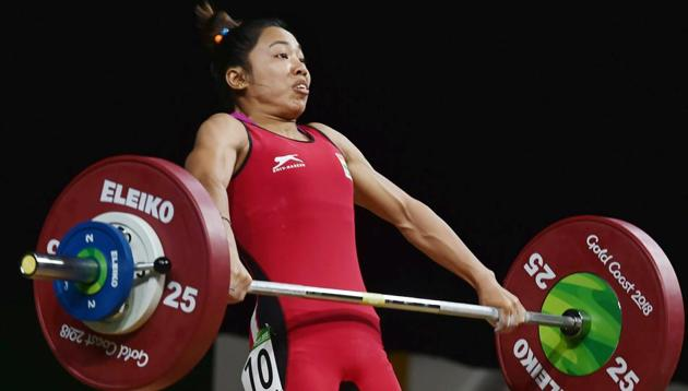 K Sanjita Chanu set a new Commonwealth Games (CWG) record in Gold Coast with a lift of 84 kg in snatch and 108 kg in clean and jerk, to finish with a total of 192 kg.(PTI)