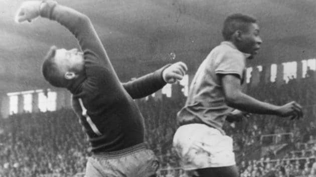 Pele was an international for almost a year before the Sweden sojourn in 1958 but football wasn't the globally televised sport it is now and digital connectivity was an idea whose time still hadn't come.(Getty Images)