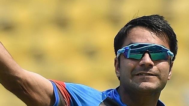 Rashid Khan will look to continue his fine Indian Premier League form when Afghanistan take on Bangaldesh in Dehradun.(AFP)
