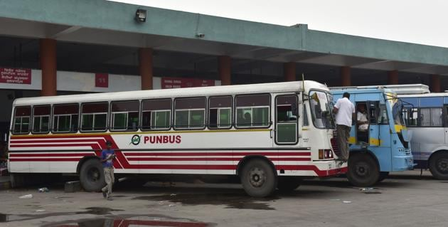 Due the ever-rising prices of diesel, PRTC had recommended the state government to increase the bus fare by 6 paisa per km — 3 paisa as infrastructural charges and 3 paisa as diesel charges.(HT File)