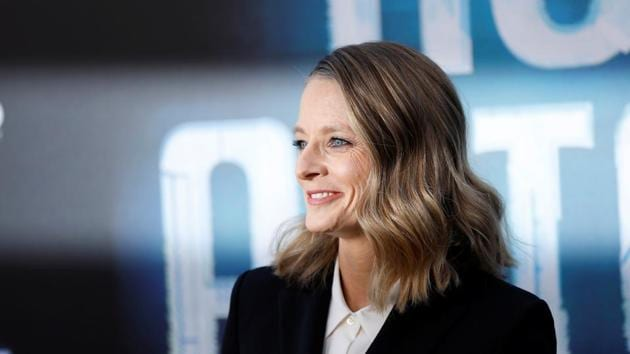 Cast member Jodie Foster poses at the premiere for the movie Hotel Artemis in Los Angeles.(REUTERS)