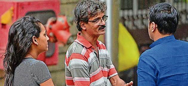 Patrick Mastersm, brother of Kenneth who drowned at Ratnagiri, at Shatabdi Hospital.(Satyabrata Tripathy/HT Photo)