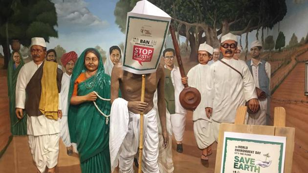 Statues of celebrities are covered with bags at the Wax Museum at the Nahargarh Fort in Jaipur.(HT Photo)