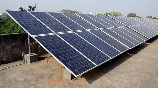 Though the state has reached the power generation target through solar energy, it is way behind its generation target through biomass plants, including the stubble-based.(HT Photo)