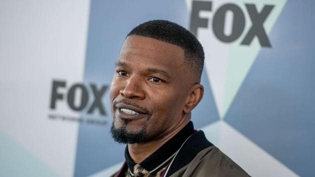 Jamie Foxx attends the 2018 Fox Network Upfront at Wollman Rink, Central Park on May 14, 2018 in New York City.(AFP)