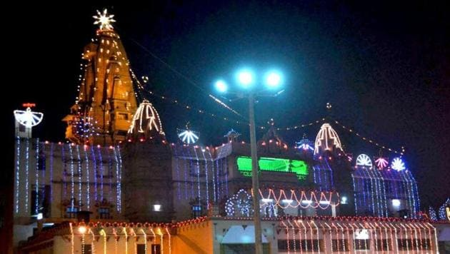 A letter purportedly written by LeT commander Maulana Ambu Shaikh threatens to target temples such as the Krishna Janamsthan temple in Mathura (pictured here) and the Kashi Vishwanath in Varanasi.(File Photo)