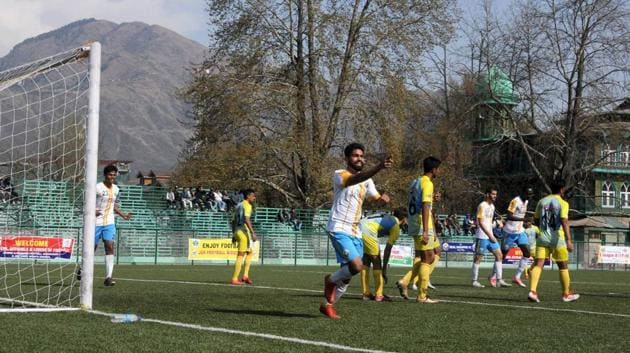 Real Kashmir FC became the first club from the valley to qualify for the I-League when they won the 2nd Division League last month.(HT photo)