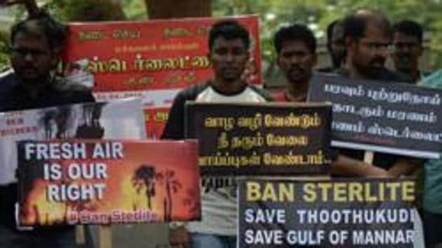 An anti-Sterlite protest at Thoothukudi. The new 2018 CRZ notification is not only silent on affixing responsibility for various regulations on specific authorities, but it has removed altogether any deadlines for achieving its purpose.(AFP)