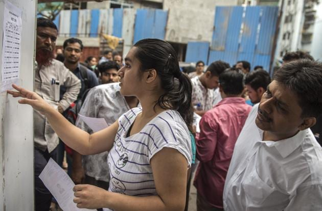 CHSE 12th result 2018: A total of 3,80,707 students had appeared for the exams, which were held between March 6 and March 29. The results have been declared.(Satish Bate/HT Photo)