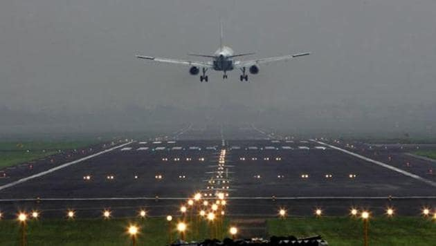 Flight G8 101, which reported heavy engine vibration, made an emergency landing at around 8.57 am and all the passengers were safe, said an Airport Authority of India release.(HT/Photo for representation)