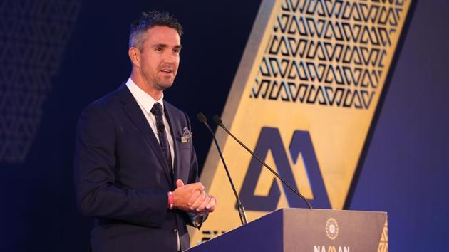 Kevin Pietersen during the 6th M.A.K. Pataudi Memorial Lecture and BCCI Awards evening in Bangalore on Tuesday.(BCCI)
