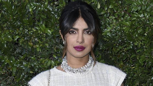 Priyanka Chopra attends Chanel and NRDC Host Dinner to Celebrate Our Majestic Oceans on Saturday.(Richard Shotwell/Invision/AP)