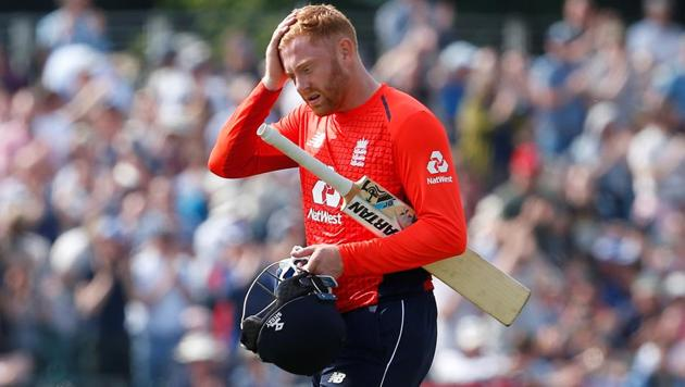 Despite Jonny Bairstow becoming the first England batsman to score ODI hundreds in three successive innings, England failed to chase down a target of 372 vs Scotland.(Action Images via Reuters)