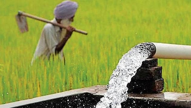 Seen as a double bonanza, farmers will earn money for power which the Punjab government gives them free of cost.(HT File)