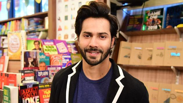 Indian Bollywood actor Varun Dhawan attends the launch of the book SuhelDev & The Battle of Bahraich by Amish Tripathi in Mumbai on June 11.(AFP)