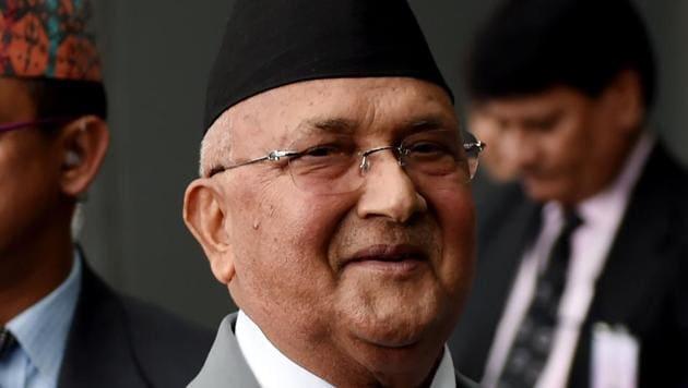 A file photo of Nepali Prime Minister KP Sharma Oli.(AFP)