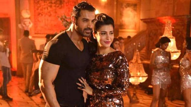 John Abraham and Shruti Haasan in a still from Welcome Back.