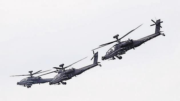 The US government has approved a deal to sell the Indian military six AH-64E Apache attack helicopters for $930 million.(AP File Photo)