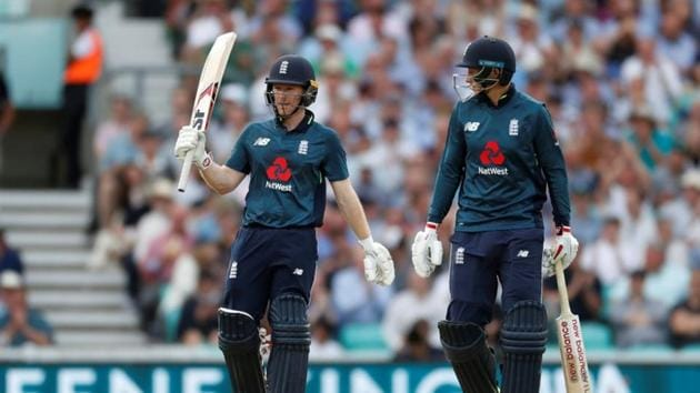 England were boosted by a fifty from Eoin Morgan and David Willey's magnificent cameo in the end as they won the Oval ODI by three wickets.(Action Images via Reuters)
