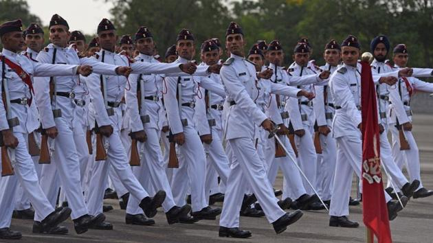 NDA result 2018: Cadets during passing out parade at National Defence Academy (NDA) in Pune on May 30, 2018.(Pratham Gokhale/HT file)