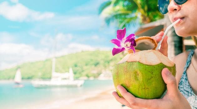 Diet for diabetics: Coconut water is excellent to replenish our electrolytes such as sodium and potassium, which keep our blood pressure in check.(Shutterstock)