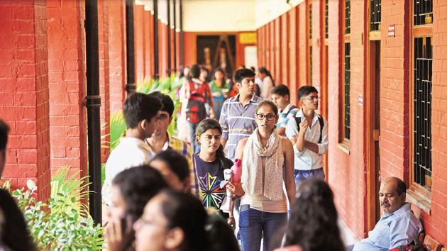 The Bachelor of Vocational Degree (B Voc) programme is currently being offered at three DU colleges.(Saumya Khandelwal/HT File Photo)