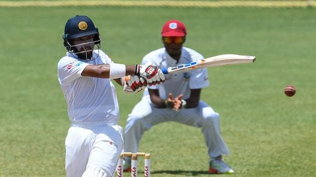 Kusal Mendis smashed 87 and shared a vital partnership with Dinesh Chandimal as Sri Lanka ended day 4 with a lead of 287 against West Indies.(AFP)