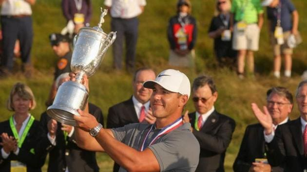 Brooks Koepka became the first player to successfully defend the US Open title in 30 years as he won the 2018 title by one stroke.(Brad Penner-USA TODAY Sports)