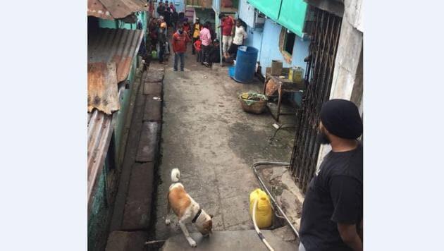 Punjabi Lane or Them Metor valley of sweepers in Bara Bazaar Shillong