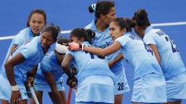 Indian women's hockey team defeated Spain to win the five-match series in Madrid.(REUTERS)
