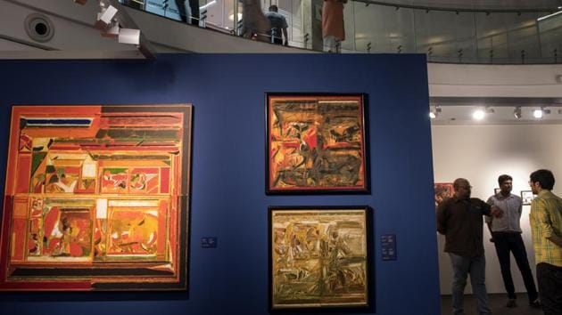 The exhibition will go on till October 28.(Satish Bate/HT Photo)