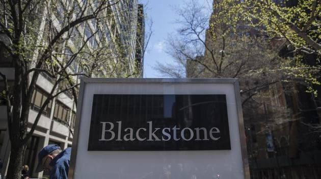 Signage is displayed outside Blackstone Group LP headquarters in New York, US.(Victor J. Blue/Bloomberg)