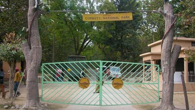 Corbett Tiger Reserve in Uttarakhand.(HT File)