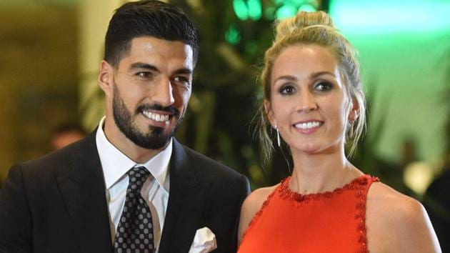 Luis Suarez and Sofia Balbi will soon become parents for the third time.(Twitter)