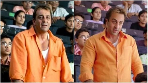 The resemblance is uncanny between Sanjay Dutt and Ranbir Kapoor.