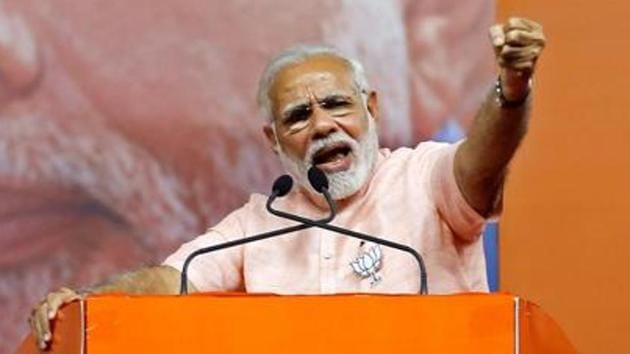 Prime Minister Narendra Modi will inaugurate over 23 development projects in Madhya Pradesh during his one-day visit to the poll-bound state on Saturday.(Reuters File photo)