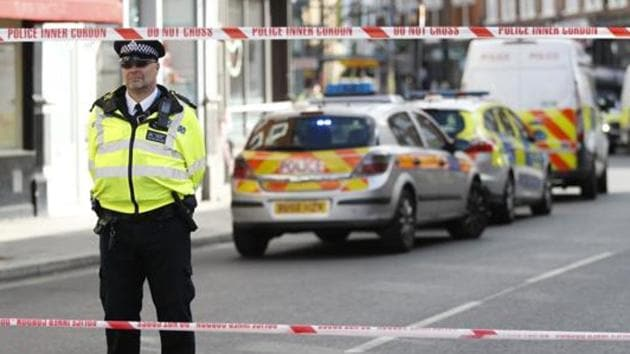 A file photo of police standing by a cordon near Parsons Green subway station in London, Friday, Sept. 15, 2017.(AP)